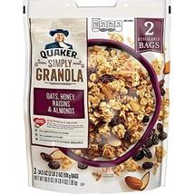 Quaker Natural Granola Oats, Honey, Raisins and Almonds - Two 34.5oz Bags, Set o - $63.93