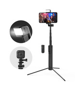 Blitzwolf BW-BS8 Extendable bluetooth Tripod Selfie Stick With LED Fill ... - $31.49