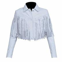 Mia Sara Ferris Bueller's Day Off Sloane Peterson White Fringe Leather Jacket image 1