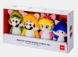 Super Mario Bro. Cat Plush Mascot Set 4 Nintendo Tokyo Limited F/S from ... - $373.52