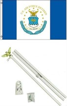 ALBATROS 3 ft x 5 ft U.S. Airforce Retired Flag with 6 Ft White Flagpole... - $47.98