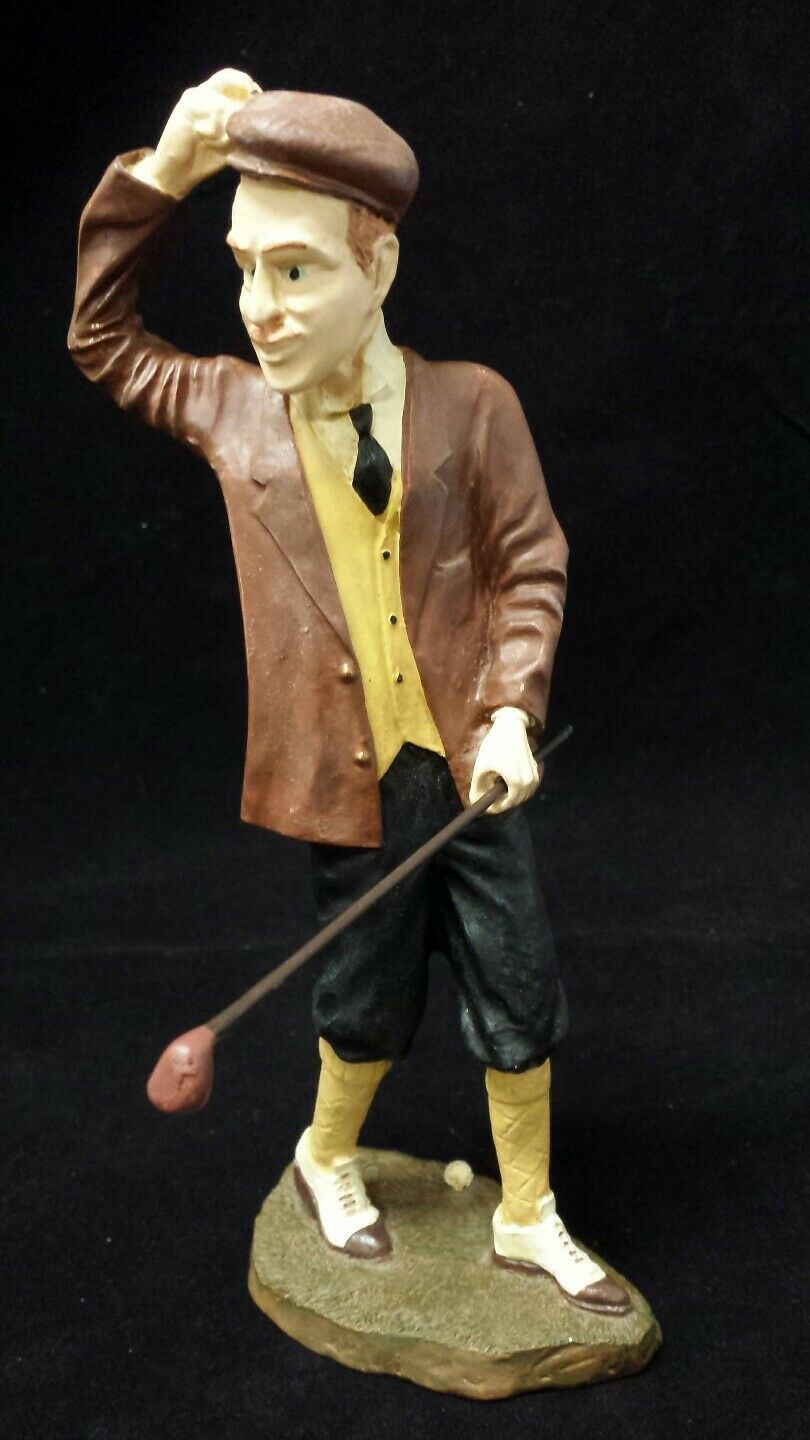 "Golfer Figurine: Avery Creations 1998 Golf Club, Ball, Golfing, Driver 7.5"" Tall"