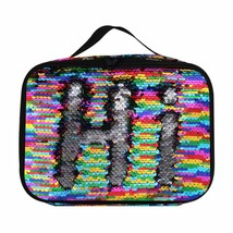Insulated Mermaid Lunch Box, Reversible Sequin Flip Color Change Fashion... - $23.09 CAD+