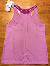 NWT Under Armour Girl's Purple Striped Heatgear Loose Tank Top - Size: Large image 11