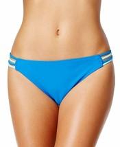 Hula Honey Women's Strappy Hipster Bikini Bottoms, Cobalt Aqua, L - $9.94