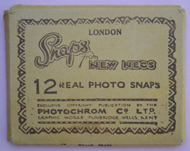 VINTAGE SNAPS FROM NEW NECS, LONDON LANDMARKS, 12 REAL PHOTO SNAPS - $3.49
