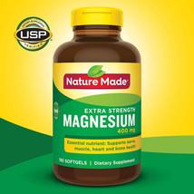Nature Made High Potency Magnesium 400mg 180 Softgels Freeshipping - $22.91