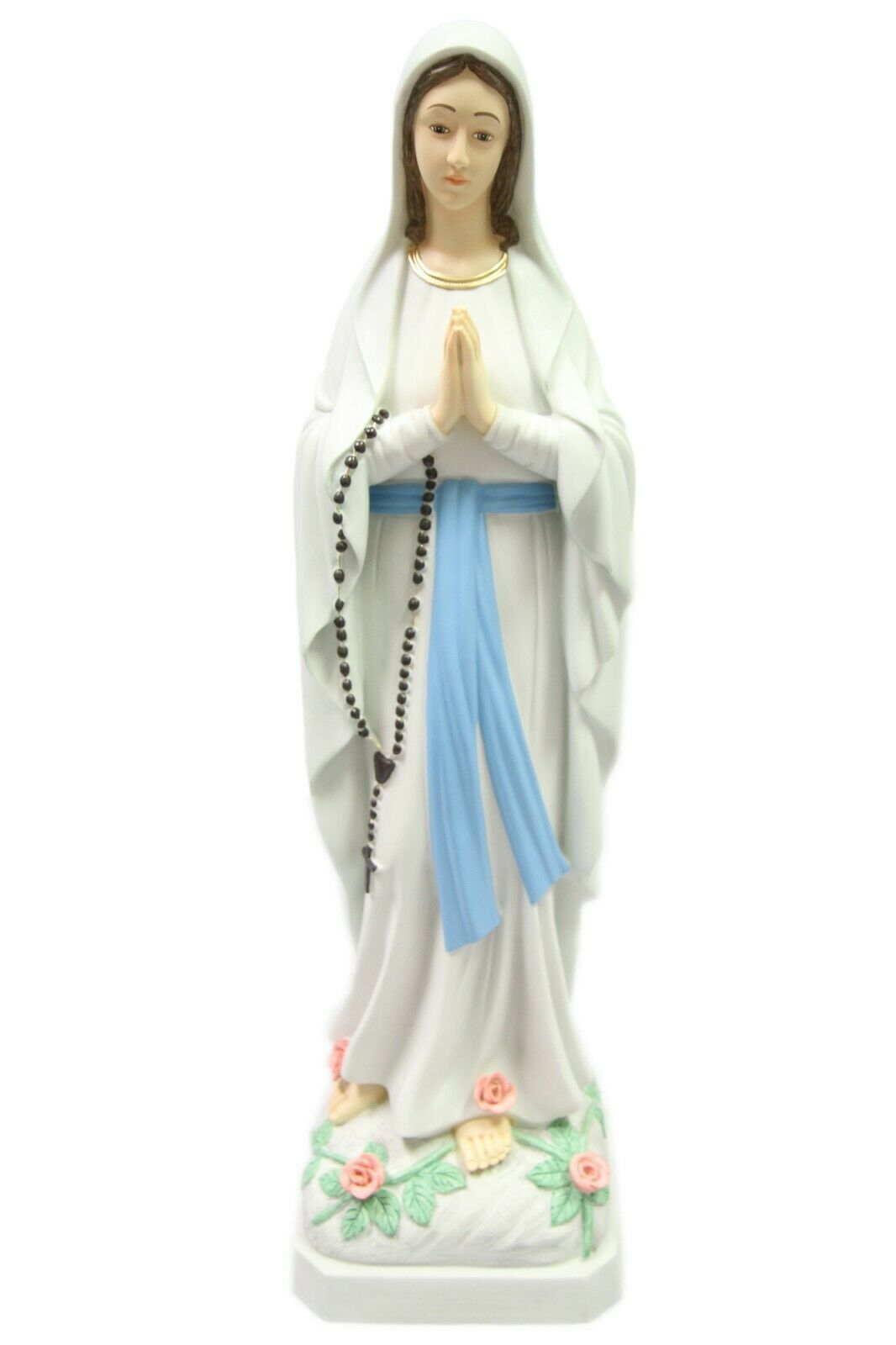 "Primary image for 32"" Our Lady of Lourdes Virgin Mary Mother Catholic Religious Statue Vittoria"