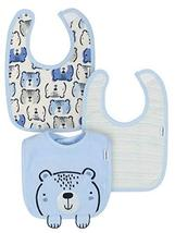 Gerber Newborn Baby Boy Assorted Organic Terry Bibs, 3-Pack, Multicolore... - $14.85