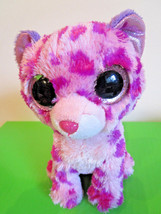 TY Beanie BOOS Pink & Purple Leopard GLAMOUR 2013 - $4.50