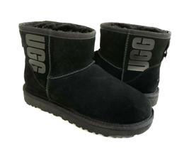 Ugg Classic Mini Ugg Rubber Logo Graphic Black Boot Us 9 / Eu 40 / Uk 7 - $111.27