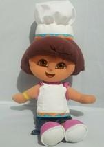"Fisher Price Chef Dora the Explorer Plush Doll Soft Toy 12"" Apron Hat 2005 - $14.54"