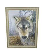 3D Grey Wolf Alpha Decorative Puzzle Picture in Artistic Gold Accent Frame - $39.57