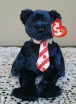 Ty Beanie Baby Pops The Bear Canadian Version Double Tush Tags NEW - $6.92