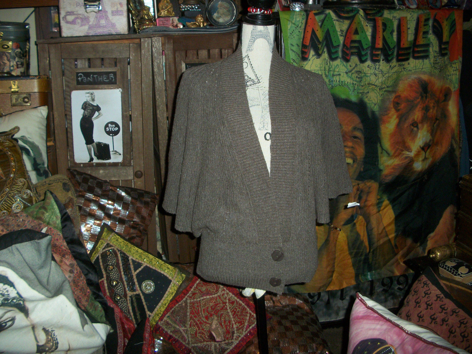 Primary image for ANTHROPOLOGIE MOTH Fabulous Cocoa Wool Blend Cardigan Size M