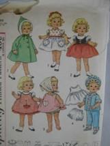 Simplicity 4652 Chatty Cathy Doll Wardrobe Pattern PJ Coat Pinafore Pant... - $8.38