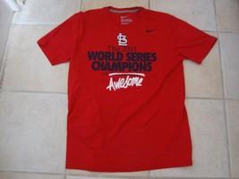 MLB St. Louis Cardinals Baseball 2011 World Champion Series Nike T Shirt Size M image 2