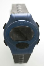 Fossil Watch Mens Blue Black 24hr Chrono Light Date Alarm Stopwatch 100m... - $24.94