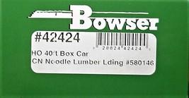 Bowser HO Scale 42424 40' Box car CN Noodle Lumber Boxcar boxca r#580146 image 3