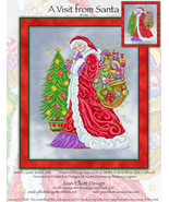 A Visit From Santa JE236 christmas cross stitch chart Joan Elliott Designs - $14.00
