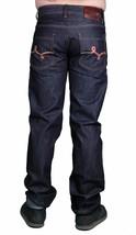 LRG Hommes Recherche Collection Beau Bas Brut Indigo Foncé Vrai Droit Jeans Nwt