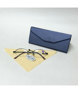 Blue Reading Glasses +1.25 Spring Temples w/ Metallic Blue Foldable Case... - $19.99