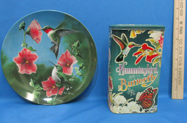 The Hummingbird Bradex Knowles 1986 Collectors Plate with Tin Butterfly ... - $13.85