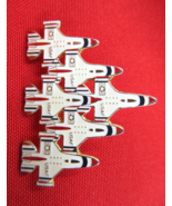 USAF Thunderbirds Pin Planes in Delta Formation Goldtone Red White Blue ... - $6.00