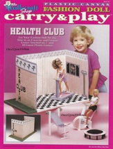Fashion Doll Carry & Play Health Club, Plastic Canvas Pattern Booklet TN... - $7.95
