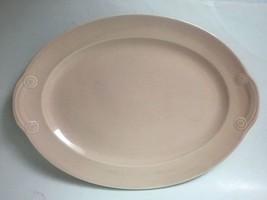 Vintage Pink LuRay Pastels Oval Serving Platter - $19.75