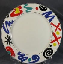 "Studio Nova YA056 COLOR MURAL Dinner Plates 11"" Geometric Multi-color (M2) - $29.67"