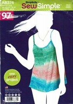 Simplicity Sewing Pattern 8374 Miss Tunic Top Size 8-18 - $4.49