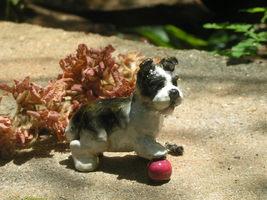 Ron Hevener Miniature Dog With Ball Figurine   - $25.00
