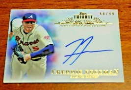 2013 Topps Tribute Freddie Freeman On Card Auto Refractor Braves 48/99 TA-FF - $29.69