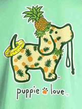 Puppie Love Rescue Dog Men Women Short Sleeve Graphic T-Shirt, Pineapple Pup image 2