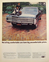 1969 Chevrolet Caprice Coupe O.J. Simpson & Wife Print Ad - $9.99