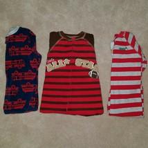 3 Carter's Fleece Footie Pajamas Lot Boy 2T Toddler Santa Firetruck All ... - $21.73