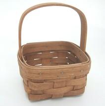 Longaberger Small Key Basket #10723 Signed Dated 1985 Good No Breaks - $15.04
