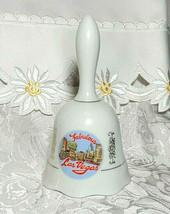 "Vintage Fabulous Las Vegas NV Ceramic Collector Souvenir Hand Bell 5.25"""