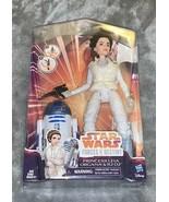 Disney Star Wars Forces of Destiny Princess Leia Doll & R2D2 Droid Hasbr... - $30.00