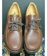 Men's ECCO Brown Leather Moc Sewn Oxford Sz. 44/11M MINT! - $56.53