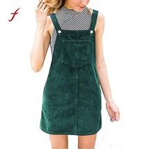 Women dresses Corduroy Straight vestidos verano 2019 robe femme Suspender Mini B