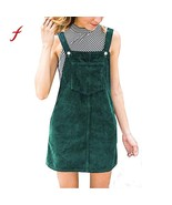 Women dresses Corduroy Straight vestidos verano 2019 robe femme Suspende... - $15.30