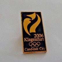 Klagenfurt Candidate City Pin Pinback Bid for Winter Olympics 2006 - $10.44