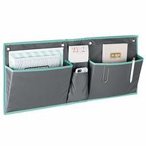 mDesign Fabric Wide Large Over The Cubical Wall Mounting Hanging File Folder Not image 9
