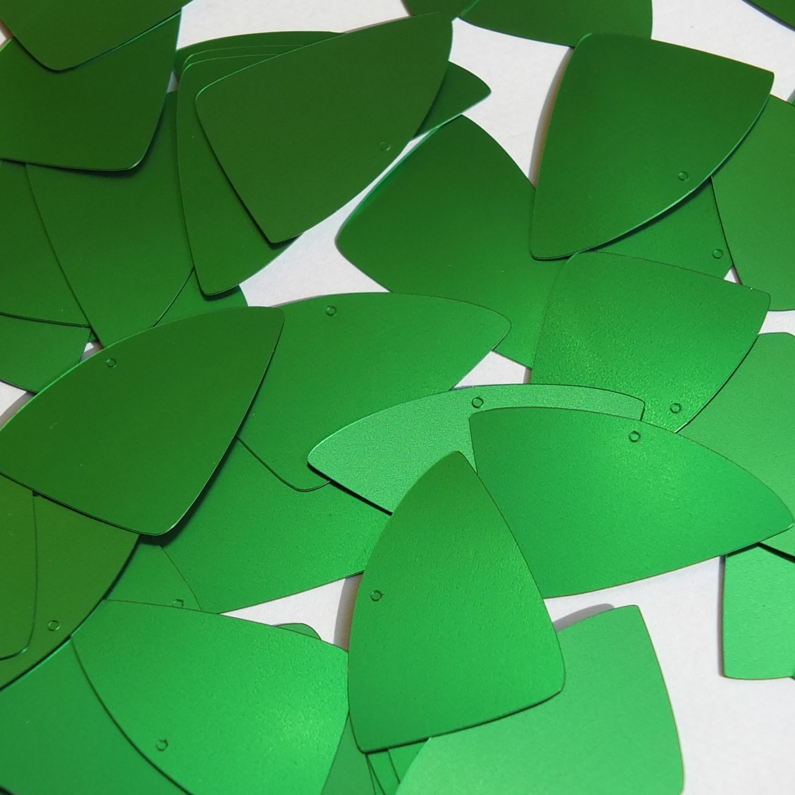 "Primary image for Fishscale Fin Sequin 1.5"" Green Matte Satin Metallic Loose Couture Paillettes"