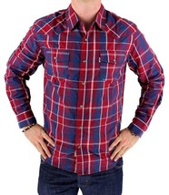 Levi's Men's Long Sleeve Button Up Casual Dress Shirt Red 3LYlW0042 image 1