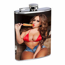Colorado Pin Up Girls D13 Flask 8oz Stainless Steel Hip Drinking Whiskey - $12.82