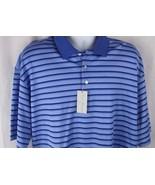 Men's Daniel Cremieux NWT XL Signature Collection Golf Polo blue striped... - $16.99
