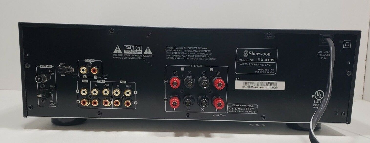 Sherwood AM/FM Stereo Receiver 2 Channel..RX-4109...Tested image 5